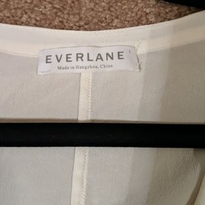 Everlane Tops - Everlane The Relaxed Silk Collarless Shirt
